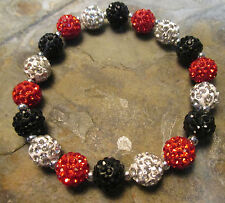 Atlanta Falcons*Bling*Crystal-Rhinestone-Red/Black/White-Bracelet