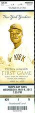 2012 Yankees vs Rays Ticket: Matt Joyce hit a three-run homer in 9th