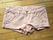 Size 6 pastel pink denim Mango shorts