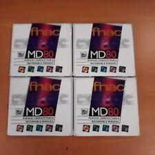 Lot de 4 MD-80 Minidisc 80 minutes pour enregistreur MD