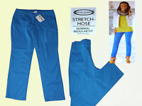 blaue Damenhose Hose Stretchhose Sommerhose Freizeithose Gr. 42 M NEU