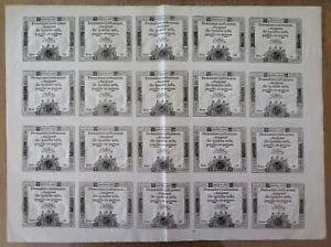 002- Ass 35a - Assignat de 15 sols - feuille de 20 exemplaires