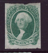 Bigjake: CSA #13, 20 cent Washington Imperf