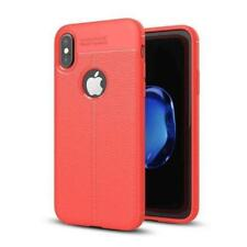 Thin Silicone Case with Leather Look For iPhone 6 7 iPhone 8 PLUS X