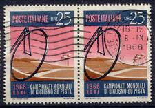 Italia _ 1968 MER. n. 1278 radwelt campionato Roma strisce 2er