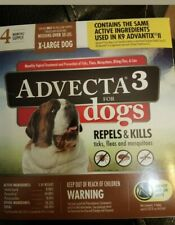 Advecta 3 for X-Large Dogs 55 lbs, 4 Month Supply, New