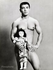 1960s Vintage MALE NUDE & DOLL Japan Asian Muscle Physique 16x20 By TAMOTSU YATO