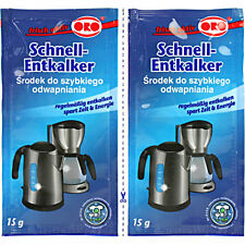 10x ORO Schnell-Entkalker Pulver Entkalkung für Wasserkocher Tab Kaffeemaschinen