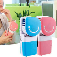 Portable Mini Air Conditioner Hand-held Bladeless Cooler USB Cooling Fan Travel