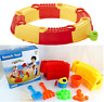 BEACH AND WATER PLAY SET INTERLOCKING ROUND SAND CASTLE  MOULDS SANDPIT TOYS 128