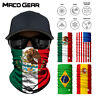 Mexico National Flags Seamless Motorcycle Balaclava Shield Face Mask Neck Gaiter