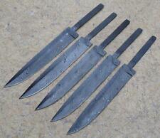 (Damascus Blade)5pc Hand Made Damascus Blank Blade Hunting knife N-157