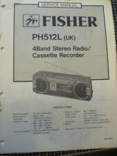 Fisher  PH512L (UK) 4 Band Radio Cassette Service Manual