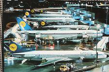 AK Airliner Postcard FLUGHAFEN FRANKFURT Lufthansa B.727, A300