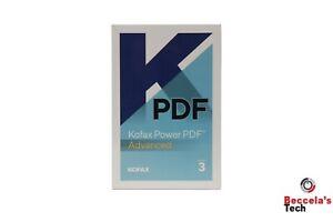 BRAND NEW Kofax Nuance Power PDF Advanced Edition 3.0 P/N: AV09A-G00-3.0