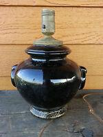 Black Antique Craftsman Era? Arts & Crafts? Table Lamp needs rewiring