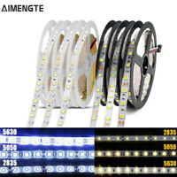 5M 12V 5050 2835 5630 4040 LED Light Strip Ribbon Tape Lamp 300 LEDs Waterproof