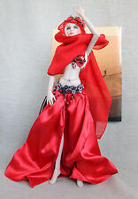 "Ruby dancer handmade outfit for Tonner doll Cami Antoinette Body 16"" OOAK"