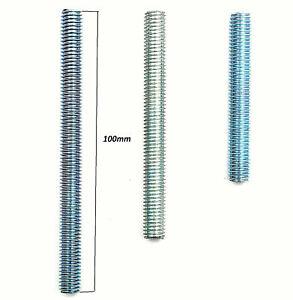 10x Gewindeende 0,54€ / Stück Gewindeverlängerung Gewindestange M8 100mm verz.