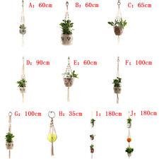 1Pot Holder Macrame Plant Hanger Hanging Planter Basket Jute Braided Rope Craft&