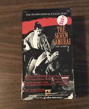 Seven Samurai Sealed Akira Kurosawa Vhs