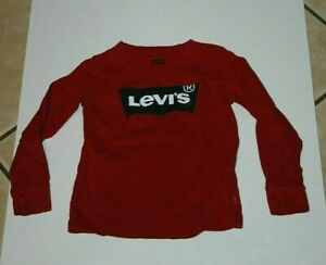 youth boys small 3T Levi's long sleeve shirt red