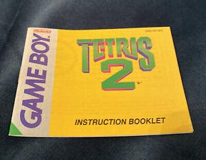 Tetris 2 Nintendo Gameboy Original Game Instruction Manual Booklet (653)