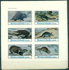 MAMMIFERI INSOLITI - UNUSUAL MAMMALS BERNERA ISLANDS 1982 block