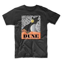 Dune T-Shirt. Fear is the Mind Killer.Classic Science Fiction.Black, Gray or Red