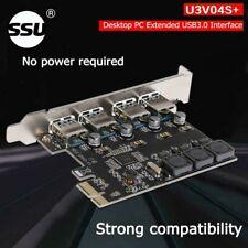 SSU U3V04S+ 4 Port USB 3.0 Expansion Card PCI Express Adaptor for Apple MacPro