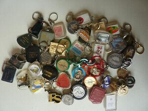 Lot de porte clés publicitaires anciens ( 42 pièces sans double)