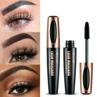 Black 4D Mascara Silk Fiber Eyelash Waterproof Extension Makeup Eye Lashes F1O8