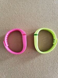 Fitbit Flex Small Pink and Lime Green Bands Only
