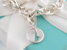 Tiffany & Co Silver Man In The Moon Charm Bracelet Bangle Box Included