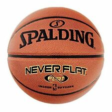 Spalding Never Flat Indoor/Outdoor Ball, Official Size 7 Basketball Size