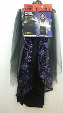 NWT Girls Totally Ghoul Black Purple Wicked Bat Girl Halloween Costume-Small