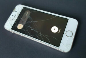Apple iPhone 5s - 16GB - Gold  A1457 - Broken Screen Glass For Parts Faulty
