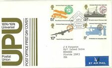 Great Britain 1974 #720-23 UPU Centennial First Day Cover FDC Ship Aircraft