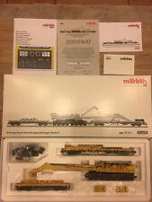 Märklin 49954, MHI, Kranwagen 100 mit Auslegerschutzwagen DB AG, Sound, NEU, OVP