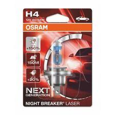 H4 Night Breaker Laser 150 64193NL-01B Osram Genuine Top Quality Product New