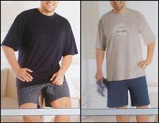 2er Pack Herren Schlafanzug Shorty Übergröße Pyjama 2XL 3XL 4XL 5XL *N011-4