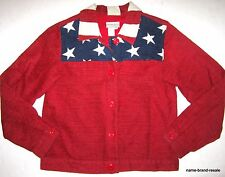 Coldwater Creek Jacket Womens S Small Red White Blue Stars Stripes Usa Blazer