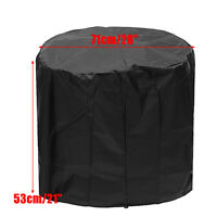 28'' Fire Pit Cover Waterproof UV Patio Grill BBQ Outdoor Protect Round