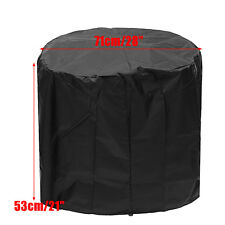 28'' Fire Pit Cover Waterproof Uv Patio Grill Bbq Outdoor Protect Round -)
