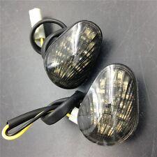 For 03-08 Yamaha  YZF R1 R6 Smoke Lens Amber LED Flush Mount Turn Signal