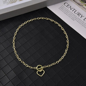 Women Necklace Charms Pendant Clavicle Heart Chain Jewelry Fashion Choker Gift
