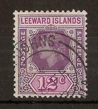 (M) Leewards 1954 12c 'Loop' Flaw SG134A Fine Used