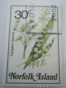 1984 Norfolk Island Flowers 30c Cordyline Obecta  used Mi.328. T28