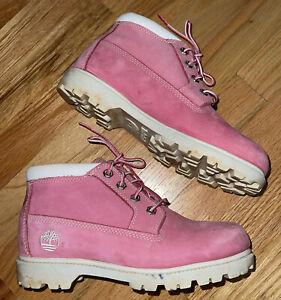 "TIMBERLAND Women's ""Nellie"" Pink Nubuck Leather Waterproof Chukka Boots Sz 8M"