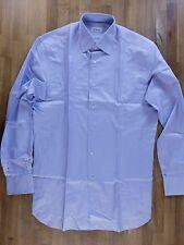auth BRIONI solid blue cotton dress shirt - Size 40 / 15.75 - NWOT